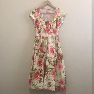 New Pinup Couture Pink & Cream Floral Dress XS